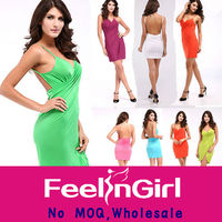 wholesale cheap only 2$ women dress 2014 casual beach party dress