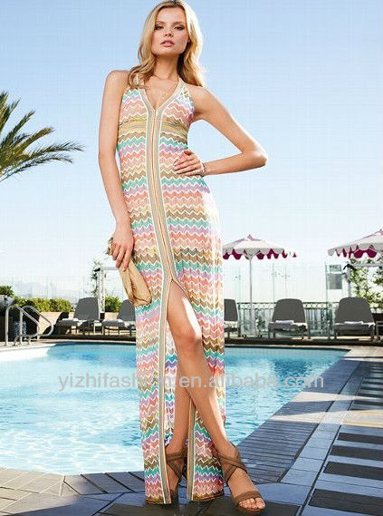 New Stylish Knit Maxi Dress with Halter top