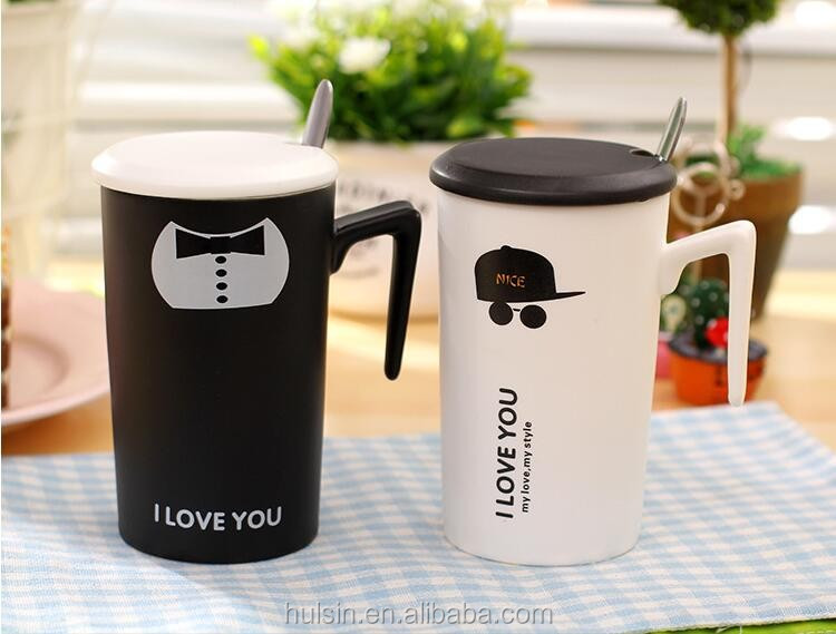 Hot sell creative funny novelty bow tie cap sunglasses coffee mug