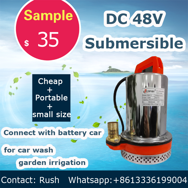 48v dc garden water pump connect with battery car and solar panel dc solar submersible pump price