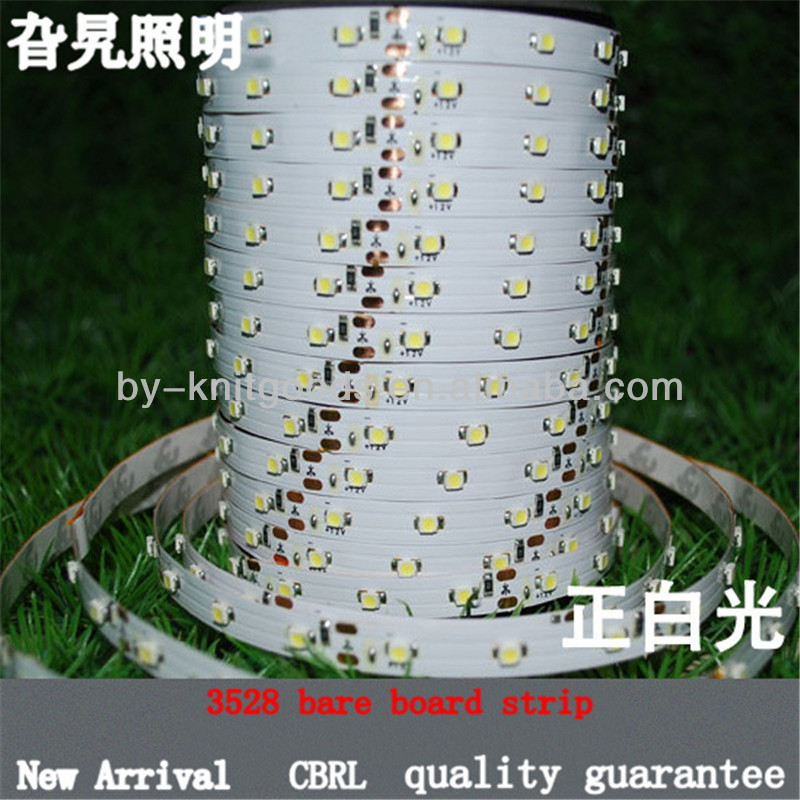 bare board non-waterproof high quality 3528 SMD led strip DC12v 60 beads per meter pure white bulk stock