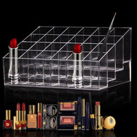 Clear Acrylic Lipstick Holder Display Stand Cosmetic Organizer Makeup Case