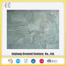 Multicolor polished slate stone tile for outdoor and indoor floor
