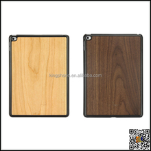 Natural wood pc case for ipad air 2, for ipad air 2 wooden back cover,wood case custom