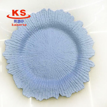 New arrive baby blue color cheap plastic charger plate for wedding table decoration