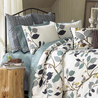 Whisper Comforter Set and Sham Separates,feather printed bedding set LATEST DESIGNS GI_6110