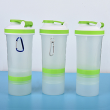 500ml Protein Shaker Cup Powder Storage, Stackable, Custom colors and Printed