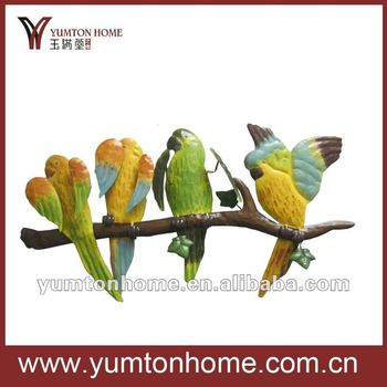 beautiful resting birds outdoor yard decor