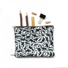 Floral Canvas Wash bag Floral make up bag zip bag