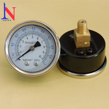 Factory price Naite chromed ring with black steel gauge, dry pressure gauge, cheap pressure gauge