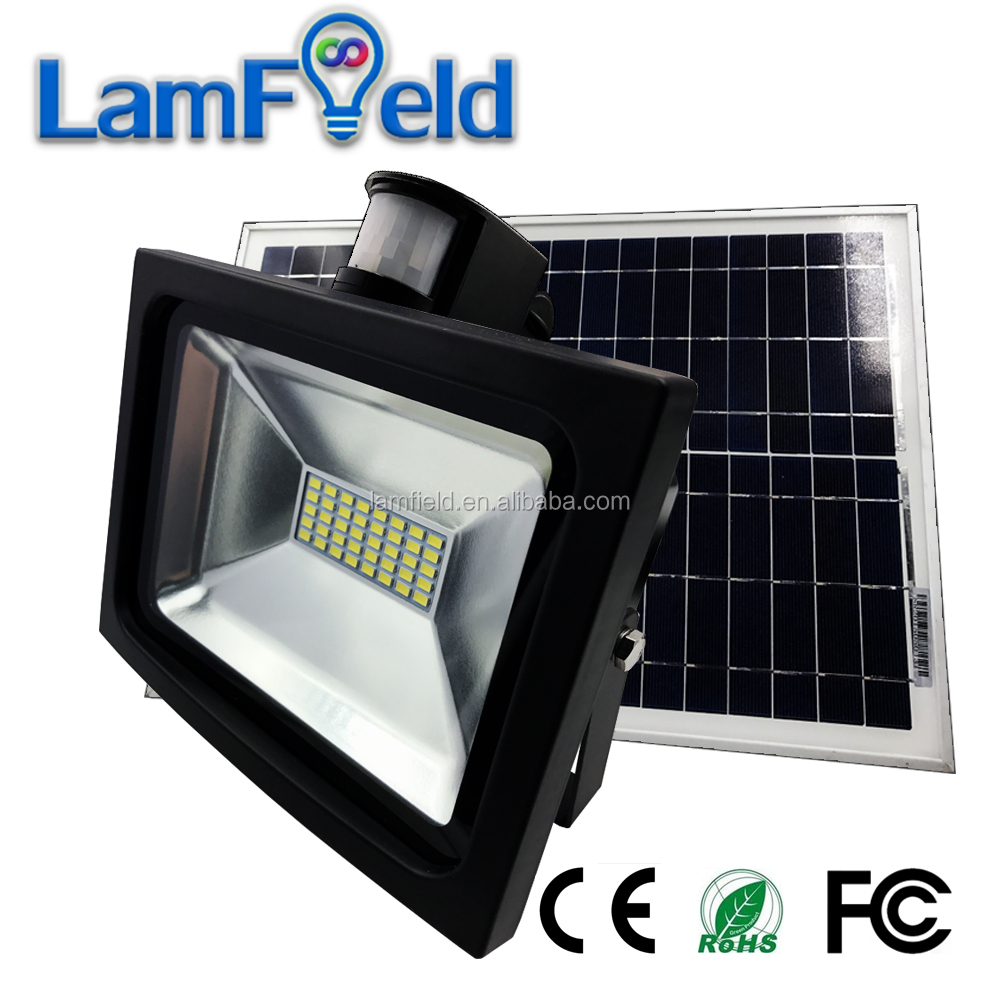 Super bright 20W LED solar garden light PIR motion sensor for outdoor wall