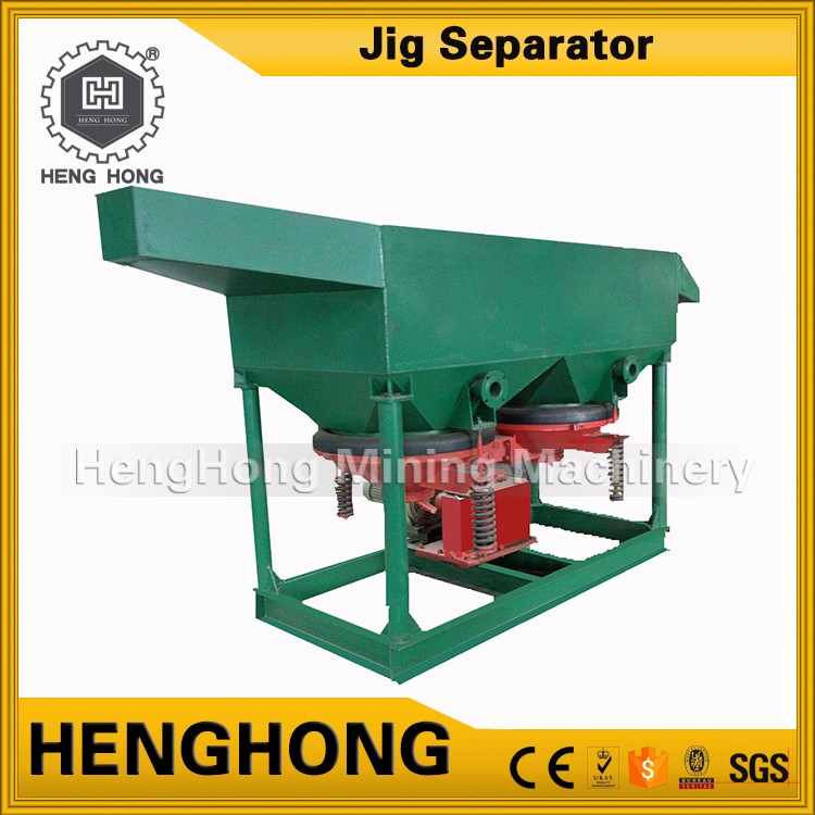 Chinese supplier dry cassiterite processing machine gravity jig for alluvial gold separating