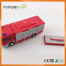 Customized Gifts 2017 New Products Fire Truck USB Flash Drive OEM Logo