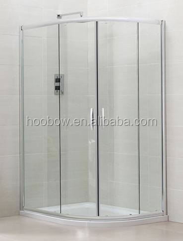 Factory price classic custom made quadrant sliding shower enclosure with aluminium profile