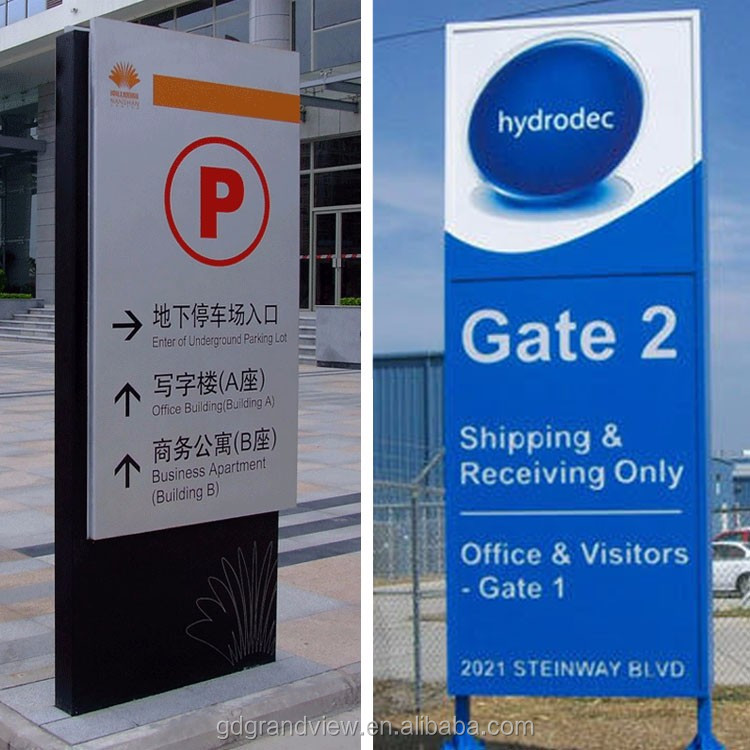 Outdoor customized color Aluminum light signage directory pylon sign