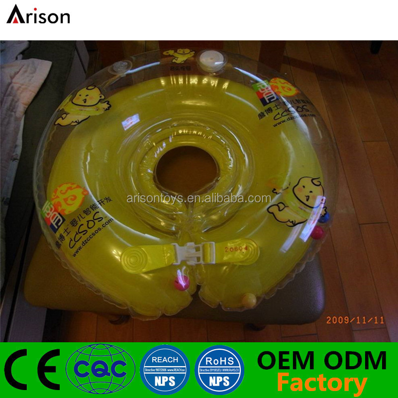 Factory OEM ODM inflatable neck ring inflatable infant swim ring baby neck ring