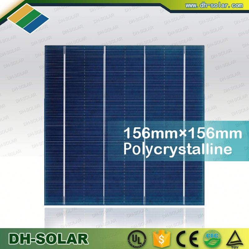 156mm x 156mm Solar Cells With 4.3W polycrystalline silicon solar cell price