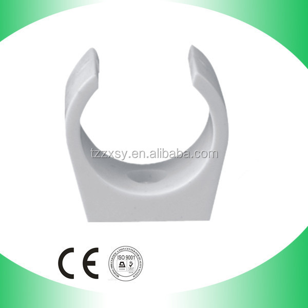 hot sale pvc pipe fitting plastic clip for supply water