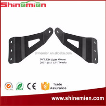 Stainless Steel Windshield Mount Bracket fit Offord LED Light Bar Bracket for Chevolet GMC Truck