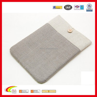 New Style Fresh Design Linen 10.1 inch Sleeve Case for Tablet, Protective Linen Sleeve for Ipad Made in China