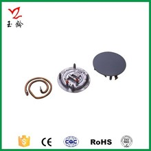 aluminium die casting part with heating element for cooker