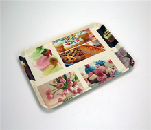 custom rectangle plastic anti-slip baking and pizza pp serving tray