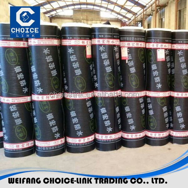 Waterproof membrane modified asphalt roll roofing