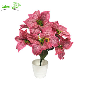 Pink Poinsettia Plants Artificial Supplieranufacturers At Alibaba