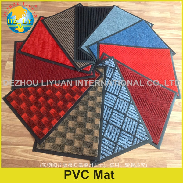 Anti-slip mat pvc/PVC backed swimming pool mat/doormat/shoes cleaning mat