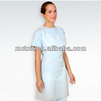 Dental supply! High quality pe disposable hygiene plastic apron for sale