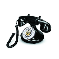 Antique Rotary Dial Plastic Classic Phone