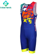 China Custom TRI Triathlon Clothing Great Fit Sublimation Lycra Triathlon Suits