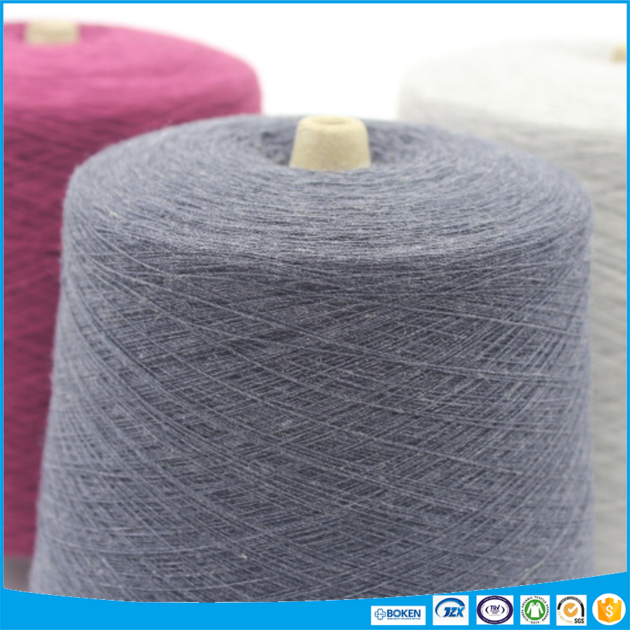 Fluffy acrylic blended wool yarn for knitting and weave