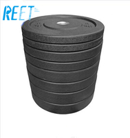 Rizhao Reet high quality 5kg barbell rubber bumper weight plates