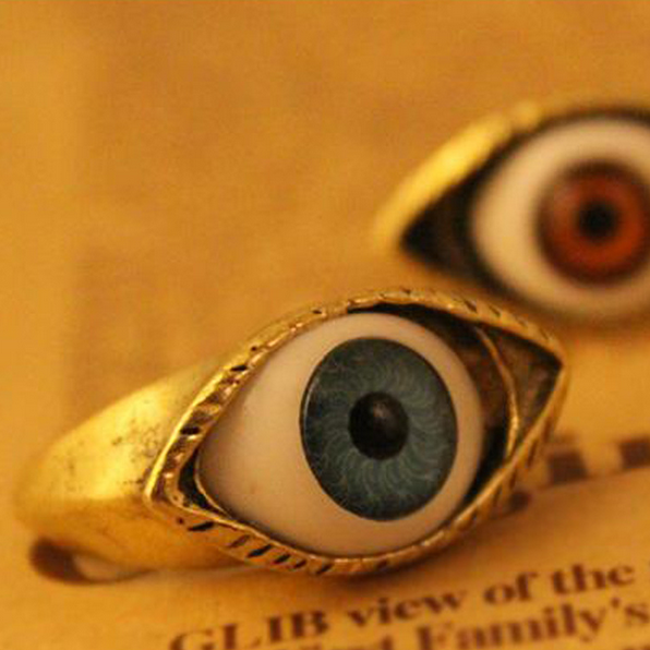 European fashionable carnival halloween party evil eye finger ring