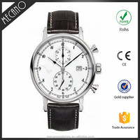 Stainless Steel Chronograph Quartz Watch 5ATM Water Resistant Mens WristWatch OEM Watch Manufacturer
