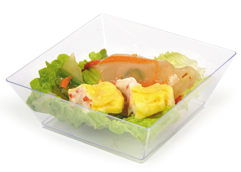 Hot sale 10 oz clear plastic disposable plastic salad bowl for hotel