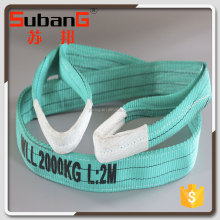 WLL 2t green eye and eye type web sling safety factor
