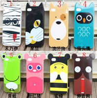 Wholesale - 8 design animal phone Accessories cute animal fox wool case for iphone 4