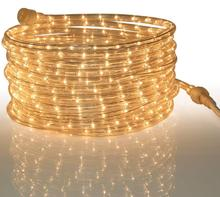 Rope Light Clear - for Indoor and Outdoor use, -10MM Diameter -30led /m Clear Incandescent Long Life Bulbs Rope Lights