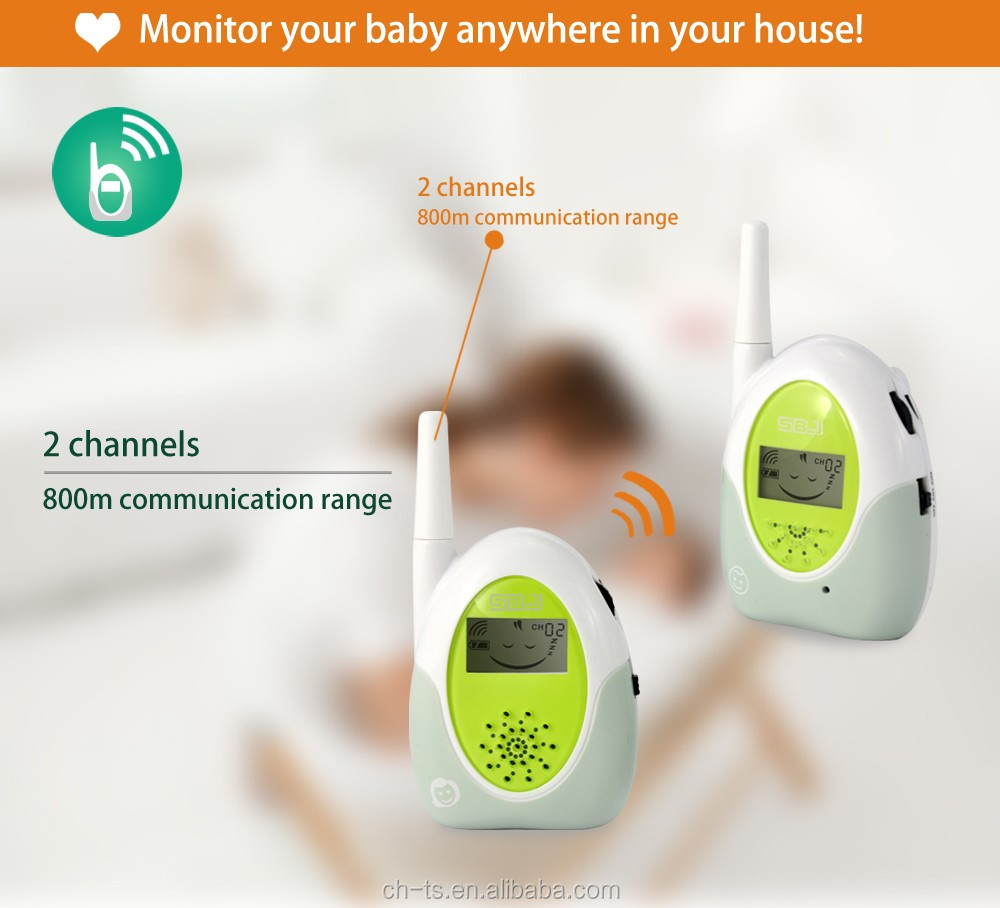 baby audio monitor baby phone analog with rechargeable battery