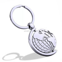 The turntable Earth map customise key chains metal