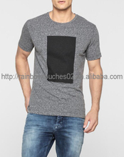 2016 Summer custom body fit gray 100% cotton t shirts