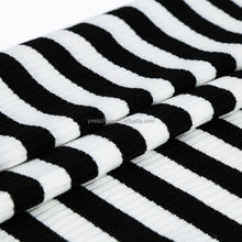 New hotsale special design polyester spandex yarn dyed 4*3 rib knit fabric manufacturers for casual cloth