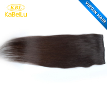 Cheap price clip in double weft hair extension,30 inch human hair extensions clip in,one clip hair extension