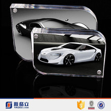 Crystal Acrylic photo frame car picture photo frame on line shopping