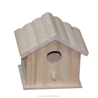 2017 garden decorative painted wooden bird house with solar light