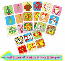 fashion design cartoon mosquito repellent patch/tablet/sticker