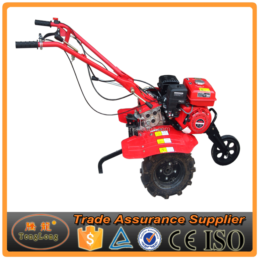 Gasoline Engine Belt-Transmission 6.5Hp Mini Tractor/Tiller And Trailer