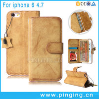 Luxury Wallet Card Photo Frame Multifunction Genuine Mobile Phone Leather Case For iPhone 6 6S